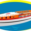 Stock Vector: Small boat