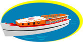 Small boat — Stock Vector