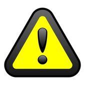 Yellow Warning Sign — Stock Vector