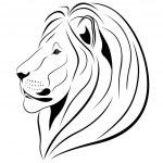 Lev, tetování — Stock vektor