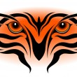 Royalty-Free Stock Imagen vectorial: Tiger eyes, tribal tattoo
