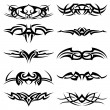 Stok Vektör: Tribal Tattoo Pack Vector