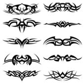 Vector pack tatuaje tribal — Vector de stock