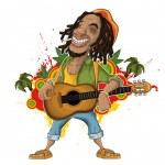 Reggae Artist — Stock Vector