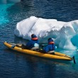 Two men in a canoe — Stockfoto #4145703