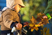Little boy outdoors — Stock Photo