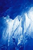 Blue Ice cave — Stock Photo