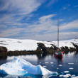 Yacht in Antarctica — Stock Photo #4790928