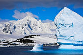 Antarctic icebergs — Stock Photo
