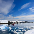 Yacht in Antarctica — Stockfoto #5201933
