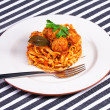 Spaghetti with meatballs - Foto de Stock