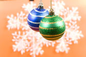 Photos of Christmas-tree decorations — Stock Photo