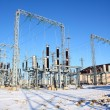 Stock Photo: Disconnecting switch on high-voltage substation