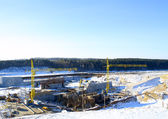 Construction of hydropower plant — Foto Stock