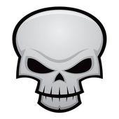 Evil Skull — Stock Vector