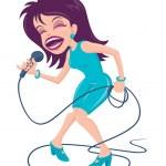 Female Pop Singer — Stock Vector