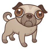Pug Puppy Cartoon — Stock Vector