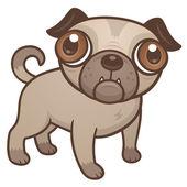Pug Puppy Cartoon — Stock Vector