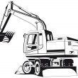 Excavator outline - 