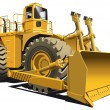 Stock Vector: Wheeled dozer