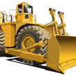 Wheeled dozer — Stock Vector