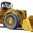 Stock Vector: Large wheel loader