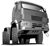 Truck_engraving — Stockvector