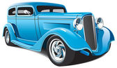Light blue hot rod — Stock Vector