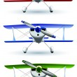 Sporting biplane front - Stock Vector