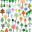 Stock Vector: Set of vector of trees