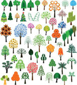 Set of vector of trees — Stockvektor