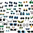 Cartoon vector eyes collection - Stock Vector