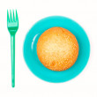 Stock Photo: Bun on the plate