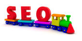 SEO train — Stock Photo