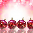 Christmas card illustration showing Christmas balls — Foto Stock