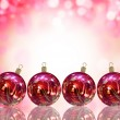 Christmas card illustration showing Christmas balls — Stock Photo