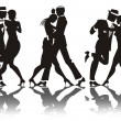 Stockfoto: Man and woman dance at a party