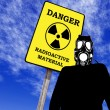 Illustration of a man with anti radiation mask — Stock Photo