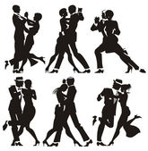 Man and woman dance at a party — Stock Photo