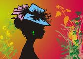 Zbliżenie kobiet na kolorowym tle — Zdjęcie stockowe