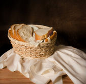 "Still-life copying Salvador Dali ""a basket with bread"" 1926 — Stock Photo"