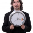 Clock man — Stock Photo