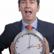 Stock Photo: Clock man
