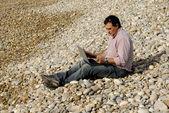 Pláž muž — Stock fotografie