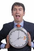 Homem do relógio — Foto Stock