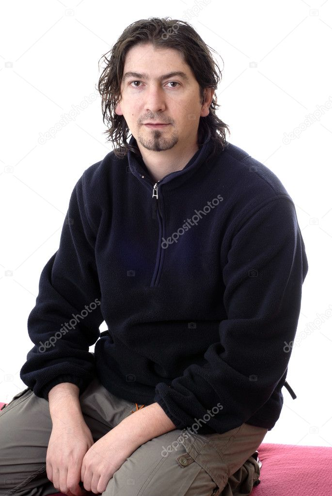 Young casual man portrait in white background — Stock Photo #4850864