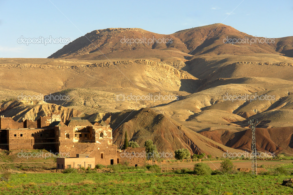 Small village in the Atlas mountain, Morocco  Stock Photo #4855969