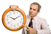 Clock man — Stock Photo