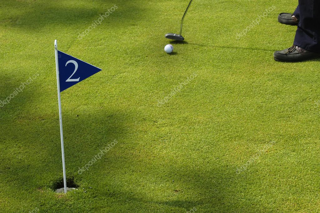 A small detail of a man playing golf — Stock Photo #4870321
