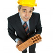 Brick man — Stock Photo